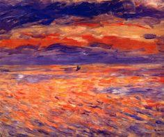 Pierre Auguste Renoir/Sunset at Sea-1879