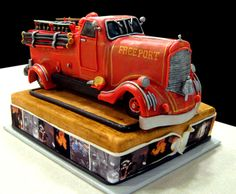 Vintage Fire Truck Birthday Cake | Shared by LION