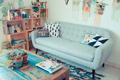Canapé MADE et déco vintage