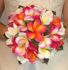 *Real Touch Frangipani Wedding Bouquets 2 - Eternal Bouquets*