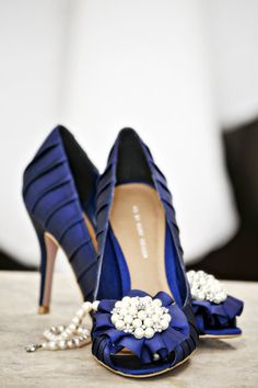 Navy Blue Wedding Shoes.