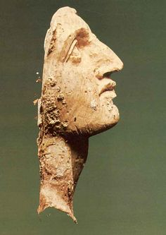 Ivory face plaque (Alexander the Great?) from the royal Macedonian tombs at Vergina, Greece. 4th century BC