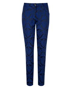 Jacquard suit trouser - Bright Blue | Tailoring | Ted Baker ROW