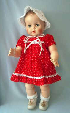 Vintage Baby Carrie Eegee Vinyl Baby Doll 24 Inches
