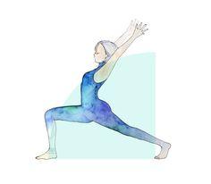 Yoga Drawing – Warrior 1(Virabhadrasana 1) Pose