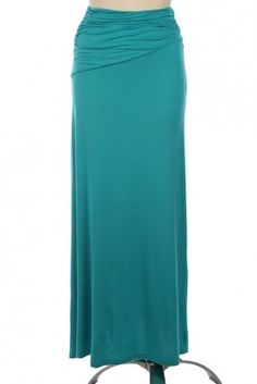 Ruched Detail Maxi Skirt- Jade