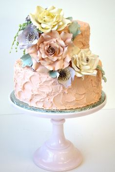 `Vintage Parisian Cake pink wedding cake by The Butter End Cakery Beautiful Wedding Cakes, Gorgeous Cakes, Pretty Cakes, Amazing Cakes, Parisian Cake, Parisian Wedding, Gateaux Cake, Cake Pictures, Floral Cake