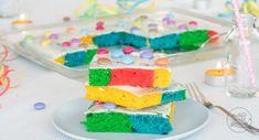 Regenbogenkuchen Blechkuchen