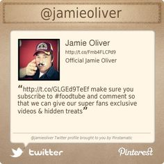 @Jamie Oliver's Twitter profile courtesy of @Pinstamatic (http://pinstamatic.com)