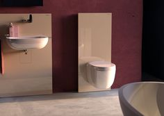 #Geberit #Monolith sanitary modules for wall hung toilet and wash basin.