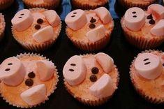Piggy Cupcakes, Cupcake Cakes, Panda Cupcakes, Yummy Treats, Delicious Desserts, Sweet Treats, Barnyard Cupcakes, Good Food, Yummy Food