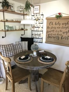 Love the table and chairs...maybe a little less farmhouse and more cottage Nook