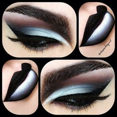 I'm in love with this! Black and white makeup