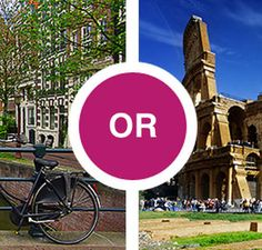 Biking through Amsterdam or touring the Roman ruins? Let GetGoing decide for you.