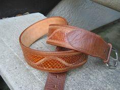 NOCONA Mens Tan Genuine Anaconda Belt Size 40 #Nocona