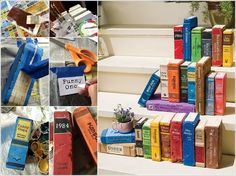 Make Your Own Faux Outdoor Library with Painted Bricks 10 Creative Indoor and Outdoor Brick Projects to Try 1
