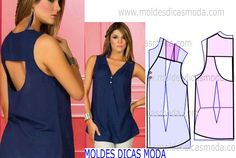 MOLDE DE BLUSA COM DECOTE NAS COSTAS -93