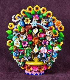 Category Archives: Nativities from Mexico	 Metepec Clay Tree of Life from Mexico Dec 10  This is a representation of the Tree of Life, hand crafted in Metepec México.