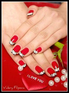 Pretty red, black and white