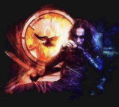Horror Wallpaper, Crow Movie, Geek Movies, Fantasy Posters, Artistic Visions, Dark Souls Art, Gothic Fantasy Art, Crow Art, Soul Art