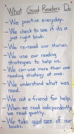 great reading workshop anchor charts