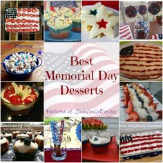 Memorial Day Recipes; Top Memorial Day Desserts #recipes #memorialday
