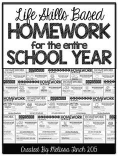 HOMEWORK CAN BE SO MUCH MORE THAN A WORKSHEET!Do you struggle with homework that is developmentally appropriate for your students? Use this no-prep easy to manage homework packet to organize your homework for the entire year. This can be used in any special education or autism program, pre-school, head start or kindergarten classroom.The homework is a simple one page per week assignment that includes a weekly reading log, weekly chore, a learning through play activity and a sharing guide.