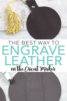 Learn the best way to engrave leather on the Cricut Maker! What tool is best to use and should the leather be wet or dry? We are giving all the details! Do It Yourself Jewelry, Do It Yourself Home, Leather Gifts, Leather Jewelry, Leather Earrings, Leather Totes, Leather Bags, Leather Purses, How To Use Cricut