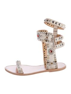 be87311fe845e8 Isabel Marant Embellished Leather Sandals Luxury Consignment