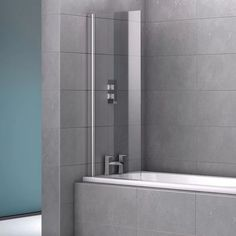 Belfry Bathroom Stoney 1400 x 600 mm Straight Tempered Glass Hinged Bath Screen & Reviews
