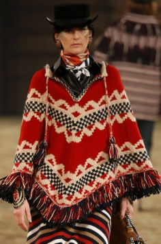 Chanel Pre-Fall 2014 -  not my favorite collection but the poncho would look great with a pair of black jeans & boots.