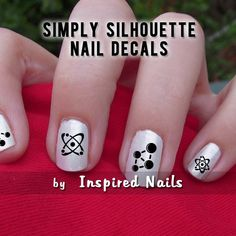 Mad Science Nail Decals Black and Clear Simply Silhouette by Inspired Nails. $4.75, via Etsy.