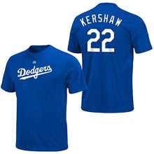 Los Angeles Dodgers Clayton Kershaw Name and Number T-Shirt by Majestic Athletic - ESPN Shop