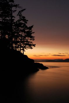 Deception Pass State Park, Washington. Always a beautiful sunset, this view is stunning.