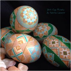 Duck Egg Pysanky By Katrina Lazarev
