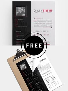 98 Awesome Free Resume Templates in this post are made by creative designers for designers and these resume templates are fully editable, so you can replace the text, change the name, add your phone number and address of your own. Free Professional Resume Template, Best Resume Template, Cv Template, Resume Templates, Free Resume, Resume Format, Resume Examples, Photography Business, Free Design