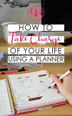 Using a Planner to Take Charge of your Life - Organize your goals & to-dos, then sit back and relax!us I love using planners and calendars to stay organized and management my schedule effectively. To Do Planner, Week Planner, Planner Pages, Student Planner, Happy Planner, Blog Planner, Arc Planner, Organized Planner, Planner Online