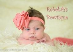 So pretty and dainty This is a smaller version of my Rebekah's Bowtique exclusive bow Perfect size for newborn girls on up Bow measures approximately inches across bottom layer LOTS of colors to list so if you don't see you specific color just email me : Baby Girl Hair, Girl Hair Bows, Elastic Headbands, Baby Headbands, Coral Hair, Double Ruffle, Ribbon Hair Bows, Summer Photos, Photo Sessions