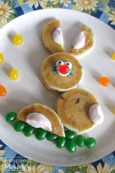 Super Simple Easter Bunny Pancakes for Kids at B-Inspired Mama