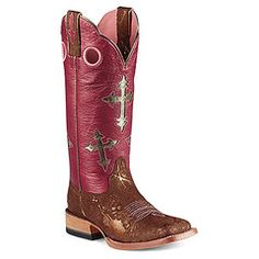 Women's Ranchero with Metallic Pink Shaft by Ariat Boots fyyyyye Cowgirl Boots, Western Boots, English Store, Shoes Names, Metallic Pink, Horse Tack, Shoe Brands, Pink Ladies