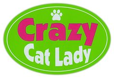 Oval Car Magnet - Crazy Cat Lady - I Love Cats - Bumper Sticker Decal Crazy Sticker Guy http://www.amazon.com/dp/B00TMFA3OC/ref=cm_sw_r_pi_dp_bURKvb0YSJJ8Y