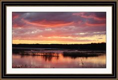 rd Erickson Framed Print featuring the photograph Lake Sampson Sunset 31 by rd Erickson