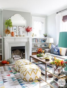 80 Stunning Colorful Living Room Decor Ideas And Remodel for Summer Project 37 – Home Design Living Room Decor Colors, Home Living Room, Room Design, Autumn Home, Home, Room Inspiration, House Interior, Living Decor, Colourful Living Room Decor