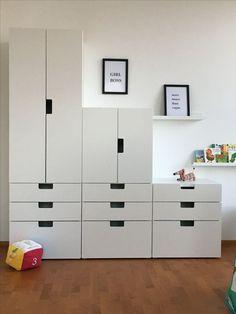 - Michèle Lindenstruth - Beyond Binary Teal Girls Rooms, Little Girl Rooms, Ikea Stuva, Kids Room Paint, Kids Bedroom, Locker Storage, Amazing Pics, Beautiful Pictures, Kura Bed