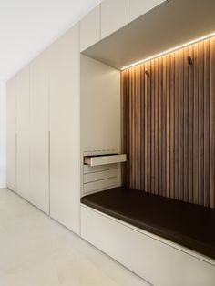 Armadio su misura laccato al naturale  Divider, Garage Doors, Interior Design, Outdoor Decor, Room, Furniture, Home Decor, Nest Design, Bedroom
