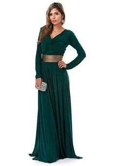 تسوق فستان بحزام على الخصر ماركة انايا لون green في الامارات