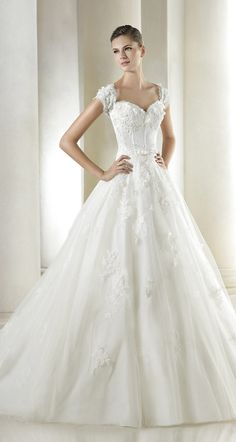 cap-sleeves and sweetheart neckline ~ st. patrick bridal 2015