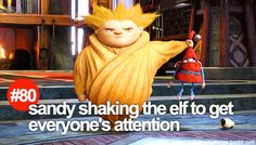 "#80 ""Sandy shaking the elf to get everyone's attention"" #littlerotgthings"