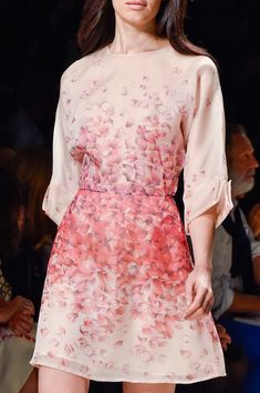 Blumarine Spring 2015 -  Of course I had to PIN this gorgeous pink dress, like it all, sleeves are neat, Vic Challenger would buy one JG http://www.vicplanet.com