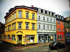 "On corner named ""Sweet Corner"" in #Eisenach. (via #spinpicks)"